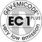 Environmental Information Specific Characteristics Specific Approvals/Standards Solvent free Odourless Recyclable aluminium saussages EMICODE EC 1 PLUS R, very low emission Specific Ratings LEED EQc