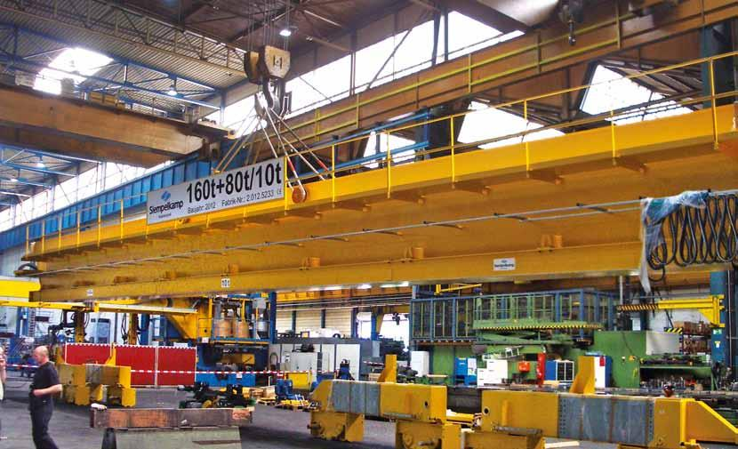 siempelkamp Machinery And Plants / Nuclear Technology Installation of the crane bridge Load-bearing synergy: New double-girder bridge crane by Siempelkamp for Siempelkamp Even within the Siempelkamp