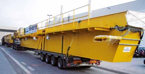 siempelkamp Machinery And Plants / Nuclear Technology 30 31 Siempelkamp s Crane Technology supplied a double-girder bridge crane with a total load-bearing capacity of 240 t, consisting of two main