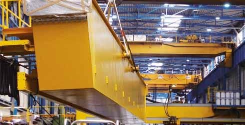 This SKT crane is the third of its kind at the machine factory, however, it is the first one from within the organization: We have been using two cranes of the same design and with the same