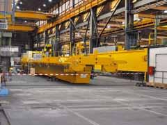 siempelkamp Machinery And Plants / Nuclear Technology Preparations are under way in the same hall in which both doublegirder bridge cranes are used.