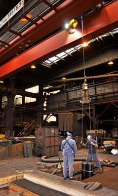 siempelkamp Nuclear Technology Transport and assembly of the graphite bar blanks into ring kiln chambers Our greatest challenge was therefore to sufficiently protect the control system and com