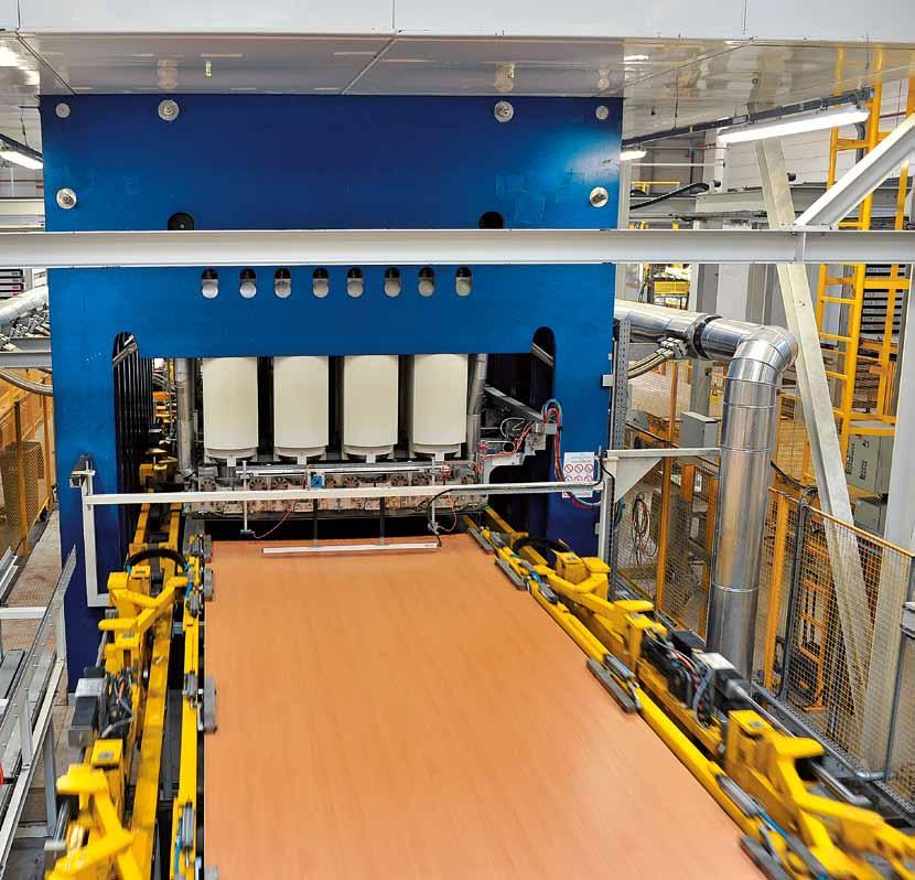 siempelkamp Machinery And Plants Siempelkamp short-cycle presses: Standard, high-end, and Eco: No room can do without them or win anyone over with individual flair: directly laminated panels made of