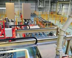 siempelkamp Machinery And Plants Feeding of boards from storage Inline paper laying system KT 400 Charging time: shorter is possible!