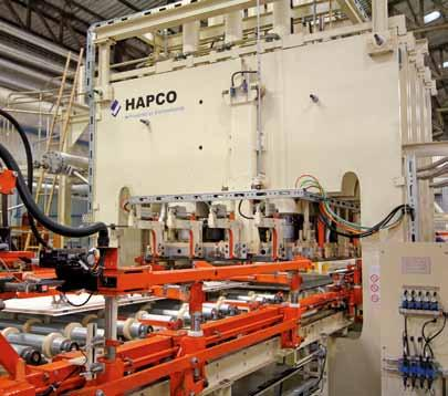 siempelkamp Machinery And Plants HAPCO: short-cycle press plants Material handling and logistics the extra for the press process With the correct pressure, the three short-cycle press concepts turn
