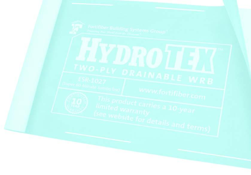 H Y D R O T E X Product Description: Hydro Tex is a scientifically advanced housewrap combined with a professional Grade D building paper, designed for use within a variety of exterior wall