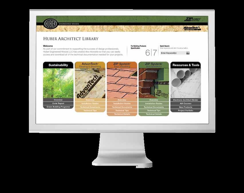 ONLINE Architect Library Easily Access and Download Technical Documentation and More As part of our commitment to supporting the success of design professionals, Huber Engineered Woods LLC has
