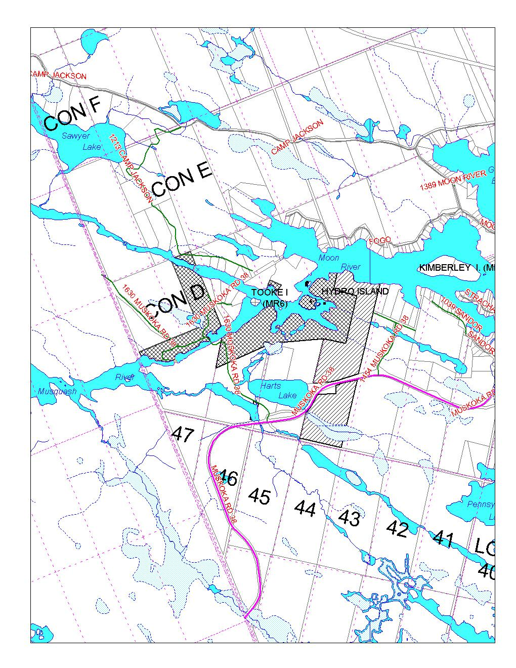Lands Owned By OPG & MNR Near The Chutes (OPG Lands