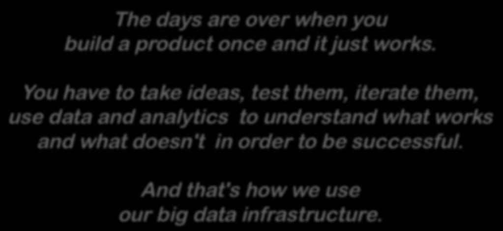 Data-Driven Business The days are over when you build a product once and it just works.