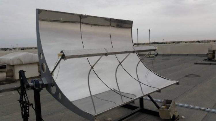 A thermal tape is used to fix the PV cells on the Stainless Steel duct without affecting the heat transfer from the PV to the duct as shown in figure 6. FIGURE 6.