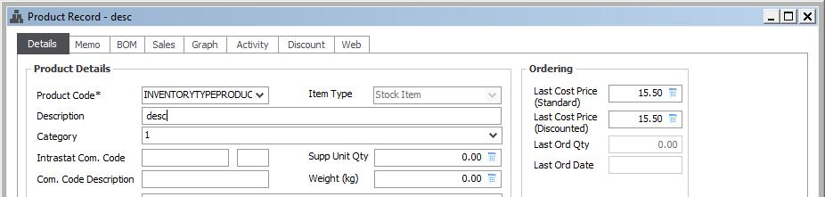 Products If you have Products in Manage that you keep track of, then the Product field on the Procurement > Product Catalog screen in Manage must be consistent with the Product Code field on the