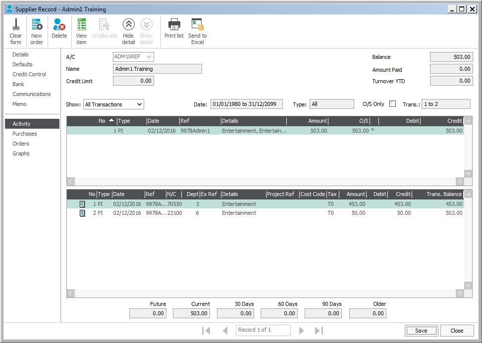 Expenses Expenses in Manage will be mapped to the Supplier Batch Invoice interface in Sage 50 Accounts.