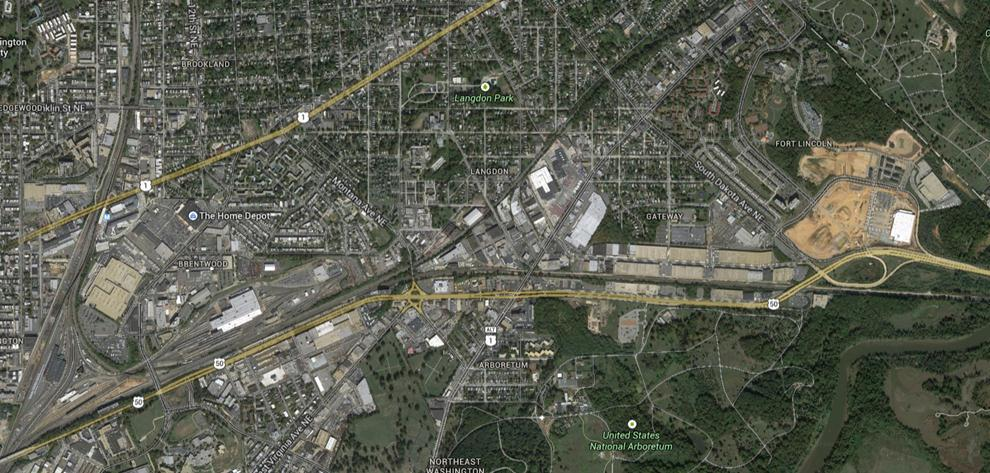 Recommendations Figure 29: Proposed Freight Village Location Area of Conceptual Freight Village Moreover, New York Avenue has the greatest absolute volume of truck traffic entering and exiting the