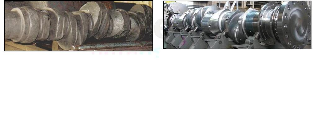 Shipbuilding Industry CONTINUOUS GRAIN FLOW CRANKSHAFTS TR technology for big crankshafts FINAL AND ROUGH MACHINED BLACK FORGINGS MAN L and V types: 58/64;52/55; 51/60; 48/60; 40/54; 32/44; 32/40;