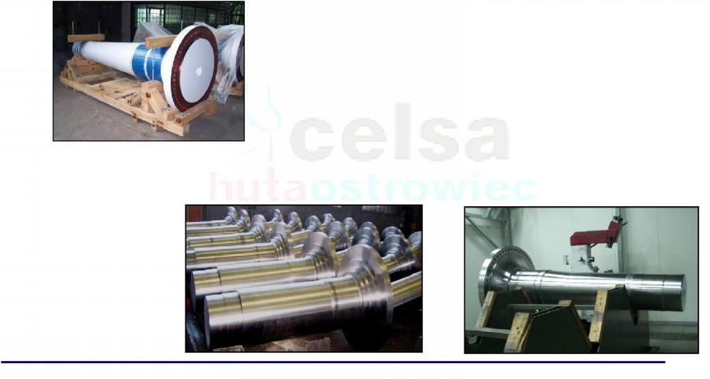 Power Industry WIND POWER TURBINE MAIN SHAFTS Final machined and painted/ metallised: 1.25 MW 1.5 MW 2.