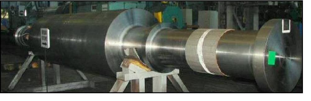 Generator Shafts We can manufacture generator rotors in nickel-chromium-molybdenium steel with weight up to 50 tons in rough machining condition. NORMALIZED Ø max 2.200 mm, L max 23.