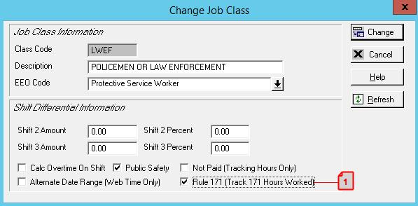 CONTROL FLAGS TO ENABLE THE IDENTIFICATION OF JOB CODES THAT
