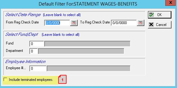 ADD THE ABILITY TO INCLUDE TERMINATED EMPLOYEE WHO WERE PAID DURING THE DATE RANGE ENTERED