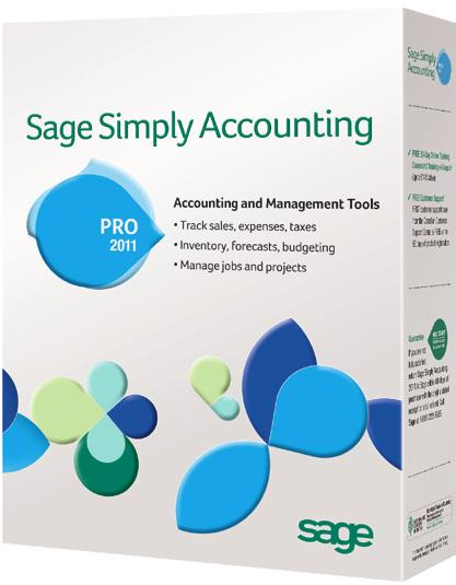 Sage Simply Accounting Pro 2011 Take your growing business to the next level and save time with Sage Simply Accounting Pro 2011 bilingual English/Spanish software for professional, easy-to-use