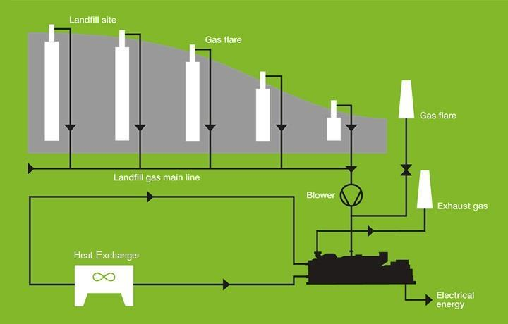 Landfill Gas Organic material within the