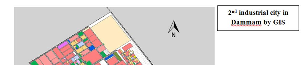 Figure 2. Distribution of factories over the area 2 nd dammam industrial city and the location of sampling points (L1-L20).