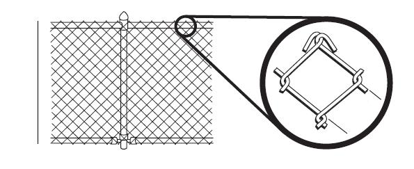 The fence or other barrier must be a minimum of 4 tall. Details for a chain link fence barrier is shown. A 1-3/4 x 1-1/4 maximum opening allowed. Details for a vertical fence barrier is shown.