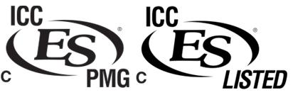ICC-ES Evaluation Reports are not to be construed as representing aesthetics or any other attributes not