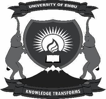 UNIVERSITY OF EMBU REGISTRATION FOR SUPPLY, DELIVERY, INSTALLATION, REPAIR AND MAINTENANCE OF
