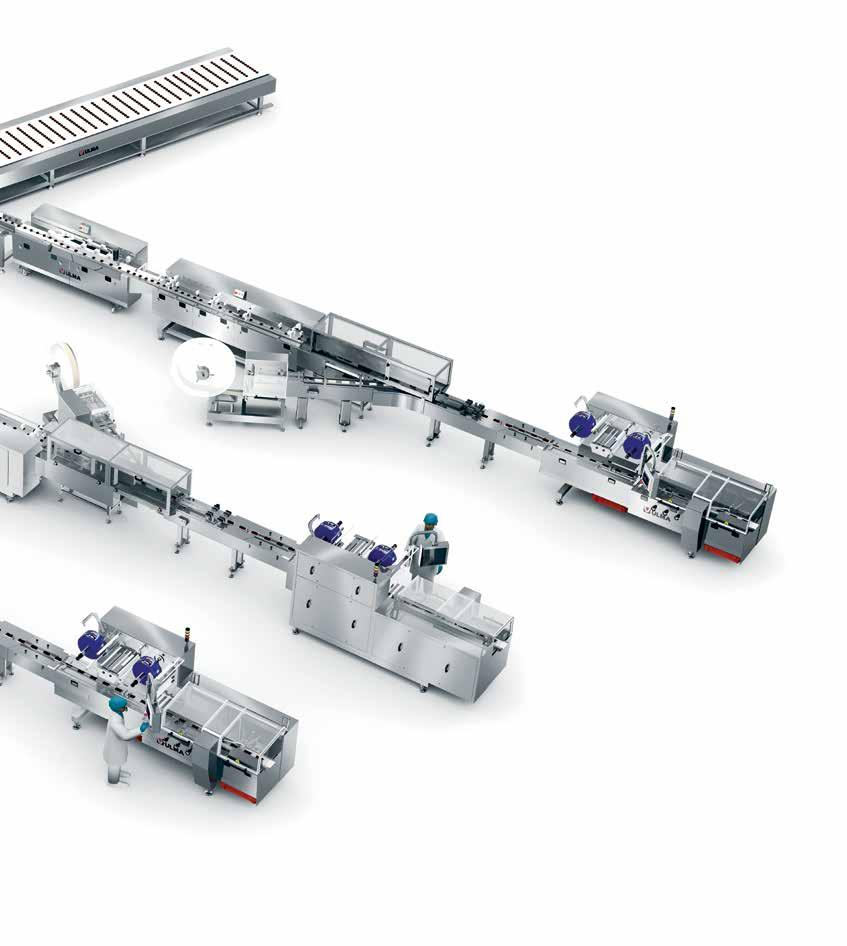 Buffer The packaging system has a product accumulation belt that enables