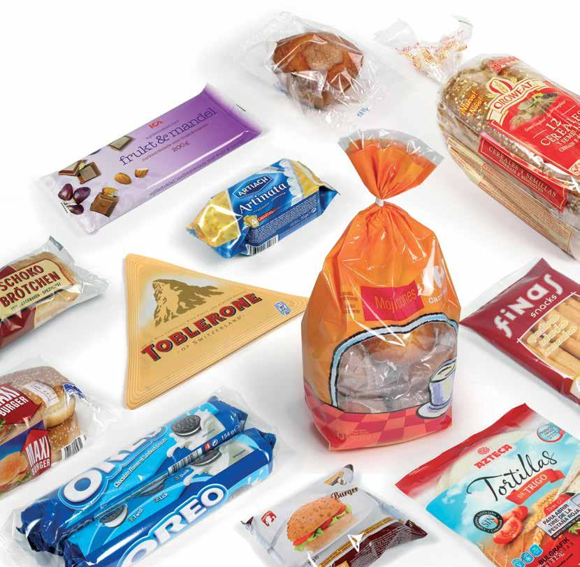 Bakery, biscuits and confectionery Specialists in bakery, biscuits and confectionery This sector needs flexible packaging solutions that guarantee products are marketed in a presentation that is