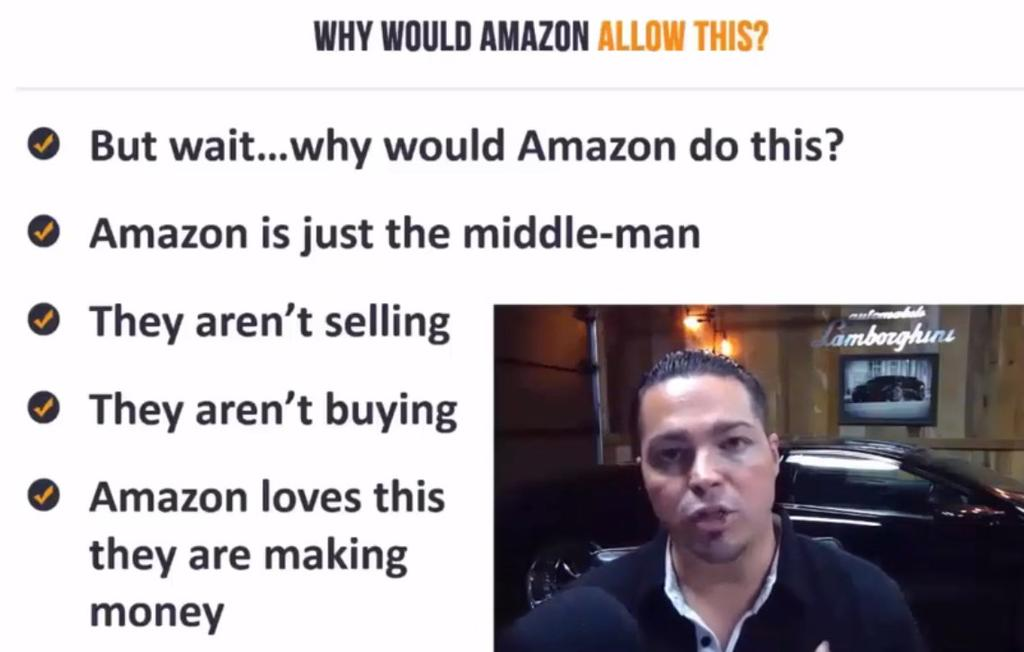 Why would Amazon do this? Amazon is just a middle man here.