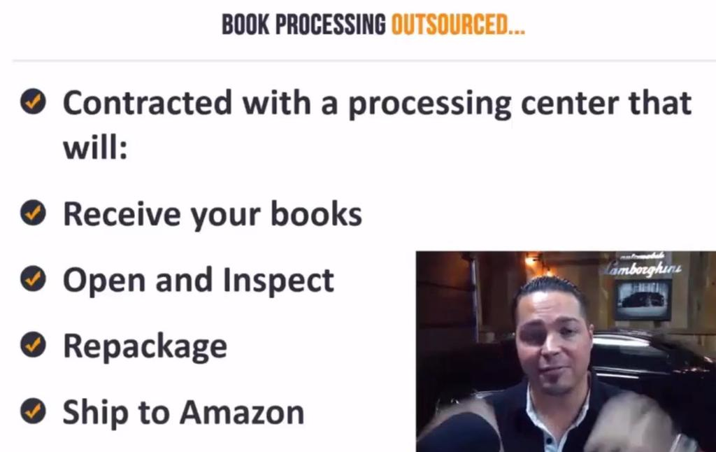 What we done... We ve contracted with a processing center, they do the whole thing. They receive your book, open and inspect, repackage and ship to Amazon.