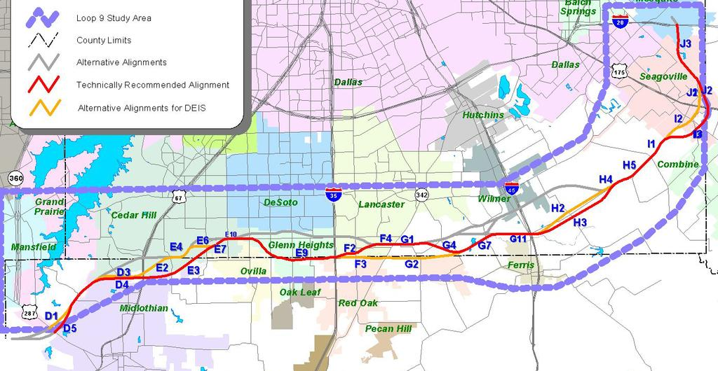 Potential TTC-35 Funding Partnership Can the Loop 9 alignment