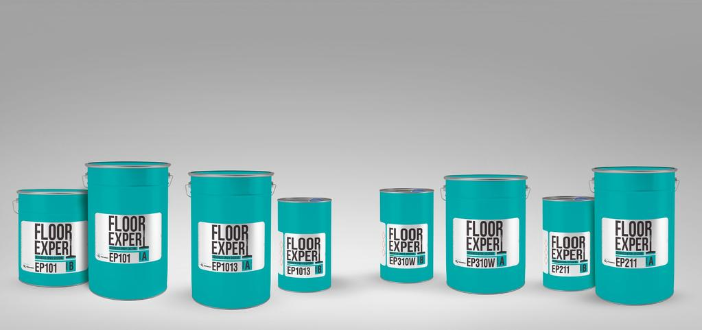 Floor Expert EP Easy preparation The unevens and weakly bound surface layers must be removed from the concrete surface. The surface must be clean and free of grease, rubber marks and other stains.