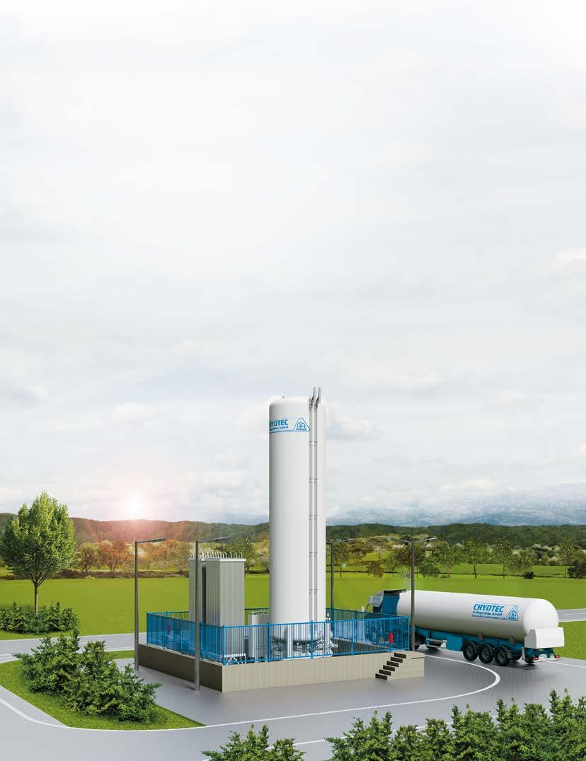 LNG Filling Station Solutions CRYOTEC Anlagenbau supplies and constructs turnkey LNG filling stations.