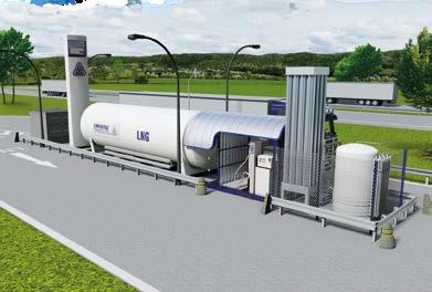 LNG-powered vehicles can be quieter than diesel-powered vehicles.