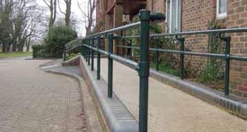 Installation requires no welding, and no special tools. We also offer pedestrian guardrails (PGR) for sites which are not straight and level.