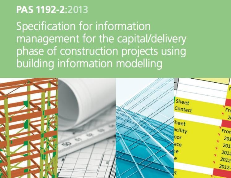 Section 3 BIM Standard Review 3.1 PAS 1192-2 PAS1192-2 Specification for information management for the capital/delivery phase of construction projects using Building Information Modelling.