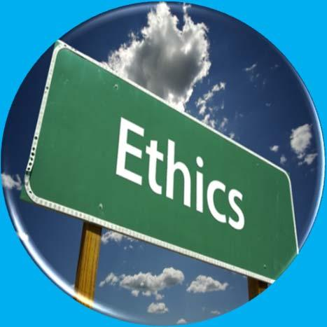 Ethics is about right and wrong and how an honorable person should
