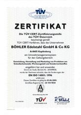 Our environmental management system has been certifi ed according to EN ISO 14001.