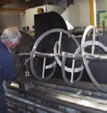 cranage to process work pieces up to 6000 kgs.