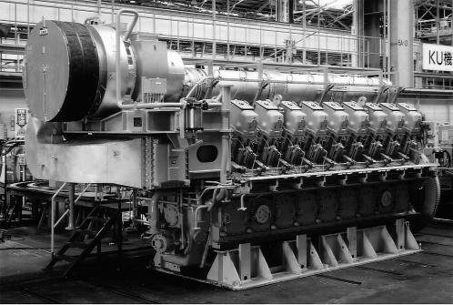 Gas engine power generation (Model: Mitsubishi 18KU34) (Model: