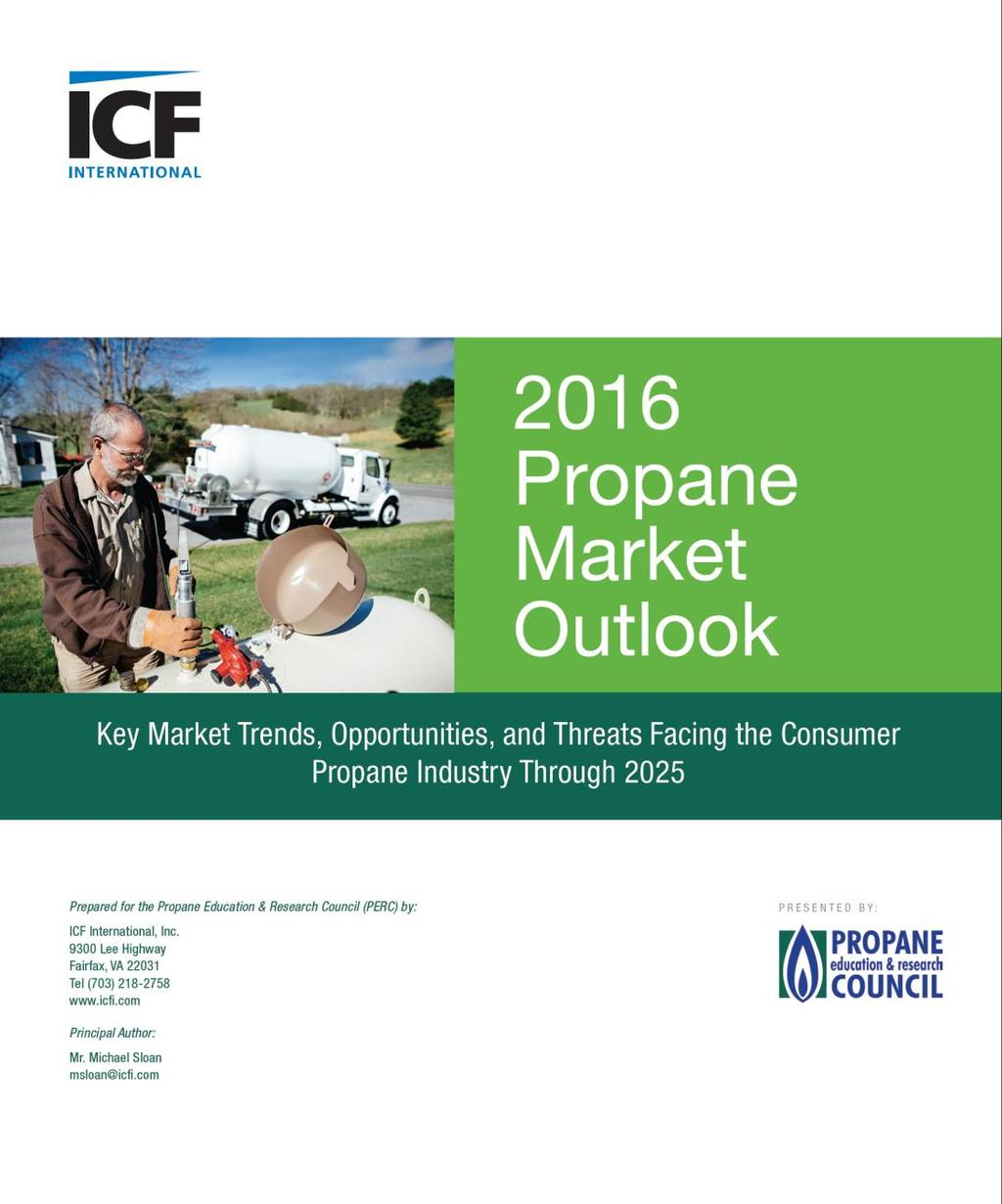 Much of the information in this presentation is available in the PERC report 2016 Propane Market Outlook
