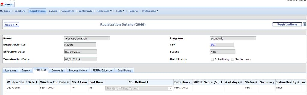 CBL Certification Process CBL Test CBL Test Status is New after