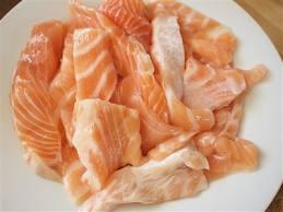 tails, collars, scrape from meat or seafood that
