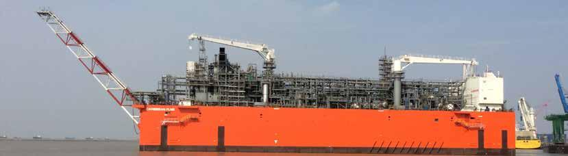 16,100 m 3 Caribbean FLNG: Owner: Exmar, Belgium Yard: Wison Offshore & Marine, China Classification: BV Completion: 2016 Scope: Complete gas-handling system for loading and
