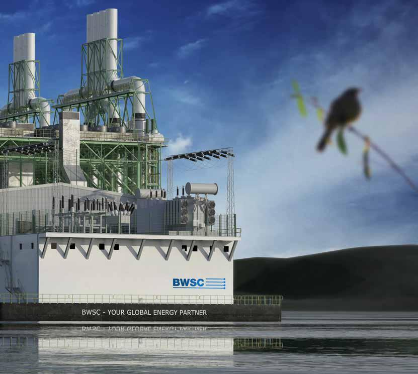 The power barge will supply the FSRU with electricity and hot water for re-gasification.