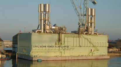 60 MW power barge: Customer: Mitsui Engineering & Shipbuilding Co. Ltd.