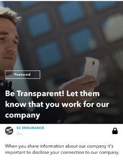 7 Using SocialChorus to Streamline Compliance with FTC Guidelines for Employee Endorsements The SocialChorus app offers comprehensive techniques for training and reminding employees of the FTC