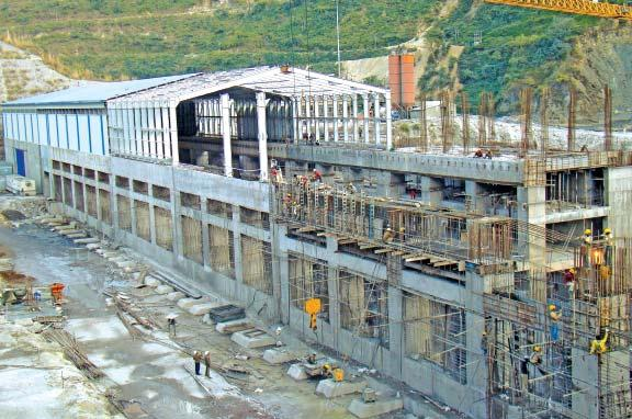 A view of NTPC Koldam project post office etc. is occupied and Guest House is functional. Loharinag-Pala Hydro Power Project (4x150MW) : Work is in progress in all the main civil packages.